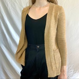 J Crew wool alpaca sweater tan cardigan